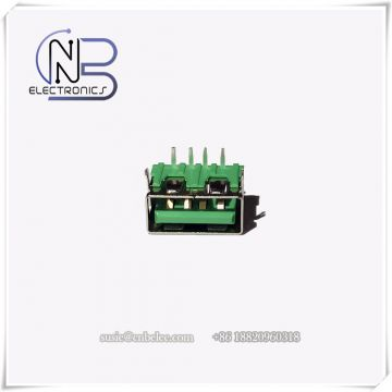High quality green 4 pin USB 2.0 type A usb connector