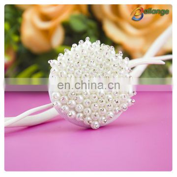 White color Wholesale handmade accessories beaded decorative button front skirt