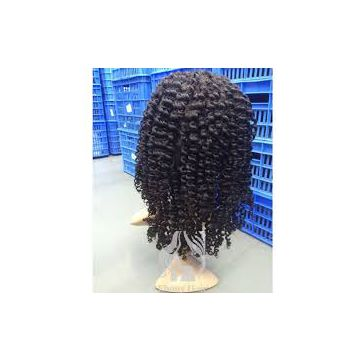 18 Inches Malaysian Curly Human Hair Wigs 16 Inches 100% Human Hair Jerry Curl