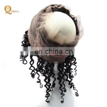 Aliexpress 360 Frontal Closure with Baby hair Brazilian Virgin Hair deep Lace hair 360 lace Frontal closure
