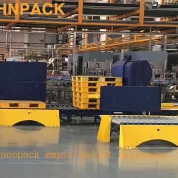 Hennopack Automatic plastic EMPTY Pallet Dispenser Machine with CE Approved