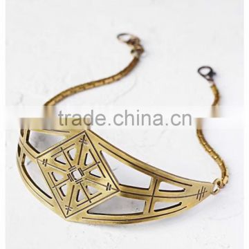 The European and American big brand women alloy choker necklace jewelry