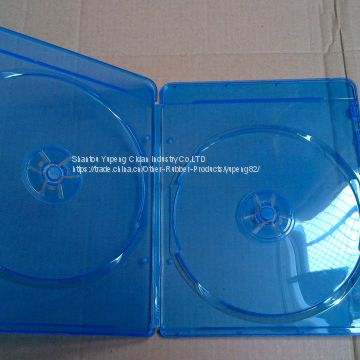 7mm blue ray dvd case blue ray dvd box blue ray dvd cover double rectange good quality with lower price (YP-D864H)