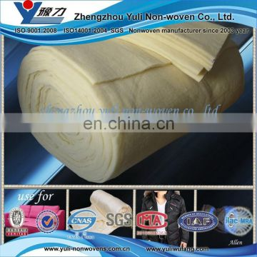 70% wool 30%polyester padding/Wol watten for warm clothing, bedding, outdoor clothing