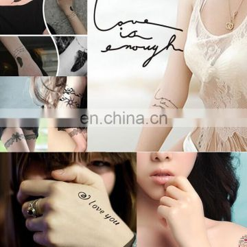 High quality long lasting customized temporary tattoo