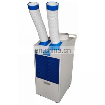 Portable heating cooling air conditioning spot coolers