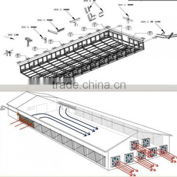 Free Design Prefab Automatic Control Low Cost Poultry Shed