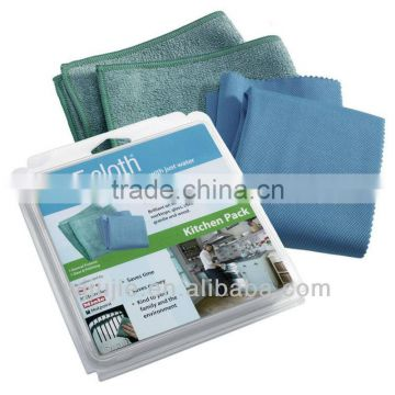 Super absorbent microfiber cleaning towels