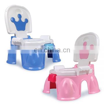 Novel design music induction plastic baby toilet seat with brush