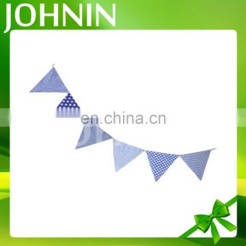 All shapes free design polyester decorative promotional custom fabric bunting
