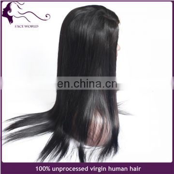 Best quality raw indian hair directly from india 100% human hair full lace wig