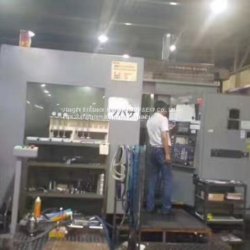 Used HITACHI 630 twin pallet 5-axis cradle horizontal machining center