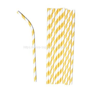 Bendable Paper Straws, Biodegradable Colorful Drinking Straws for Juices, Shakes, Smoothies, Birthday, Wedding, Anniversary Decorations, Party Supplies