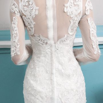 Long Lace Wedding Dress   Long Sleeve Tail