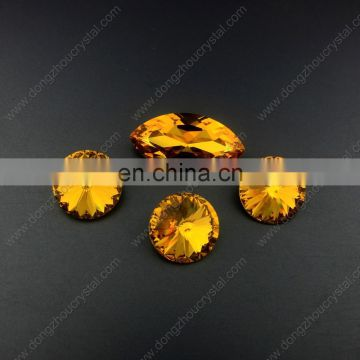 Light Topaz round shape crystal stones for jewelry