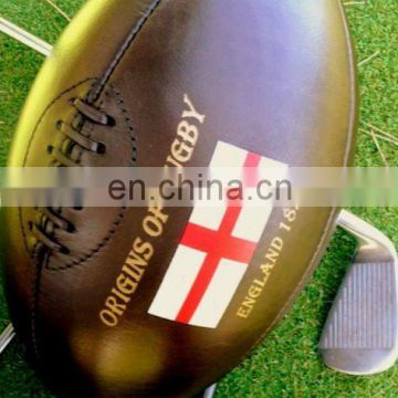 Retro Leather Rugby Ball
