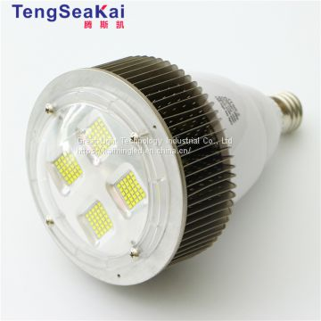 Aluminium housing factory industrial e27 e40 bulb base 200w led high bay light