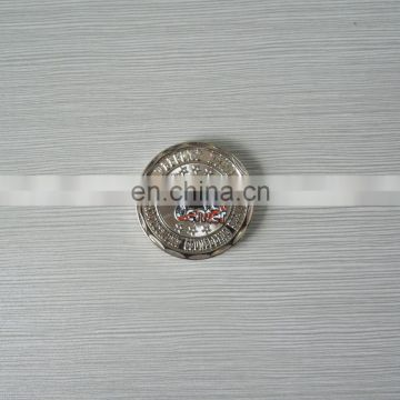 silver plated embossed logo personalized design metal coin for events