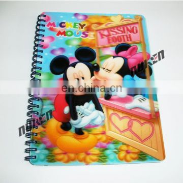 New Coming Low Price Hot Sale 3D Lenticular diary notebook Manufacturer In China