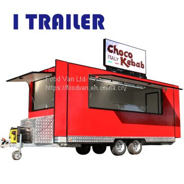 Baoju mobile fiberglas concession food trailer kiosk
