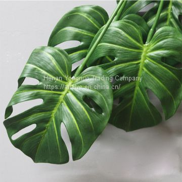 High Grade Green Plant 7 Branches Real Touch Turtle Leaf Artificial Plants