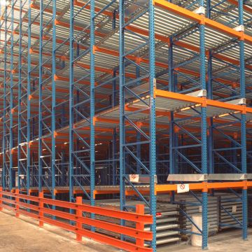 Gravity Flow Pallet Rack 100*50mm Gravity Flow Storage Racks