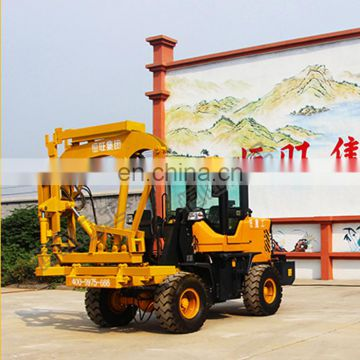 Safety Fence Installation Machine High Power Diesel Hydraulic Road Fence Post Pile Driver