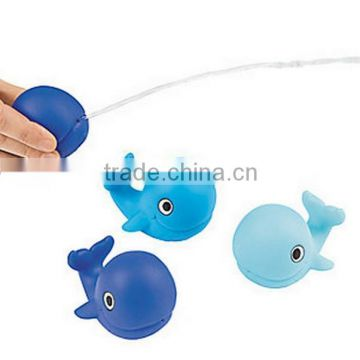 2016 New Customized Spray Water Dolphin Whale Eco-friendly Plastic Baby Toys/Create Your Design Baby Bath Plastic Toys Factory