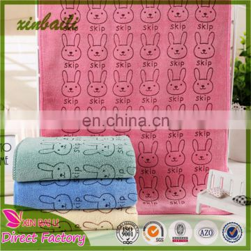 China factory wholesale Hot Sale Super Absorbent Printed Microfiber Hand Towel