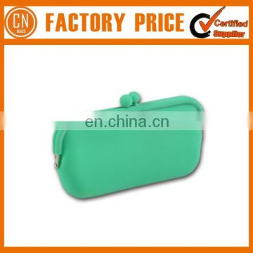 Promotional Custom Silicone Pencil Bag With Zipper