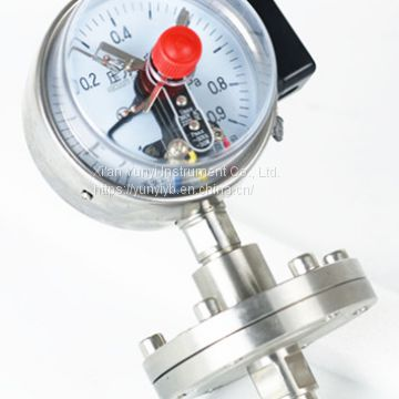 Electrical contact diaphragm stainless steel pressure gauges manufacturers