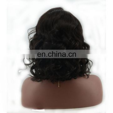6A Grade Short Beauty Wave Cheap Virgin Human Hair Lace Front Wig With Bun Unprocessed Body Wave Pubic Wig For BlacK Women