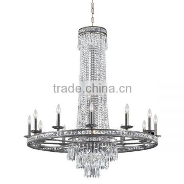 12 lights contemporary led color changing crystal chandelier