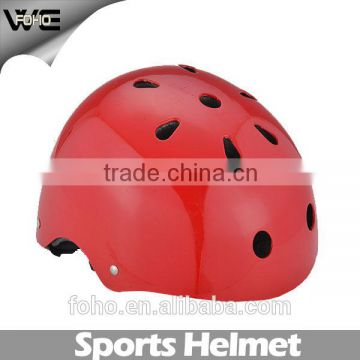 skate helmet,red water sport helmet,ABS shell+EPS liner plastic skateboard helmet for sale
