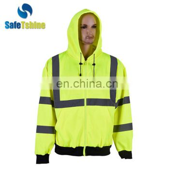 Super quality eco-friendly reflective safety sweatershirt