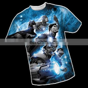 sublimation printed O neck tshirt manufacturer