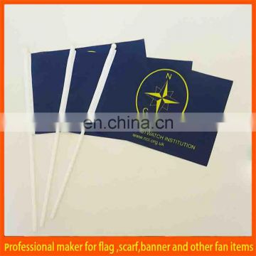 paper hand held flag for advertising