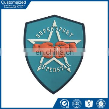 Customized embossed rubber badge silicone patch
