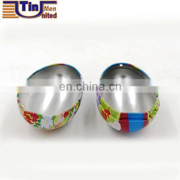 Custom shape tin box,egg shape tin packaging,Strap egg tin