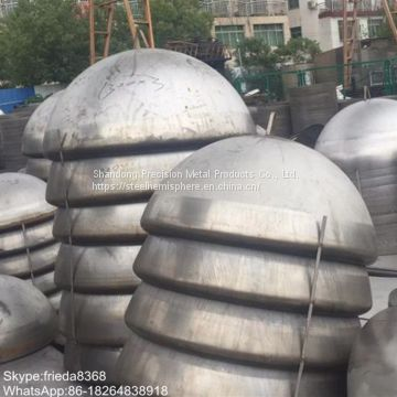 high quality mild steel hemispheres hemispherical elliptical dished end head