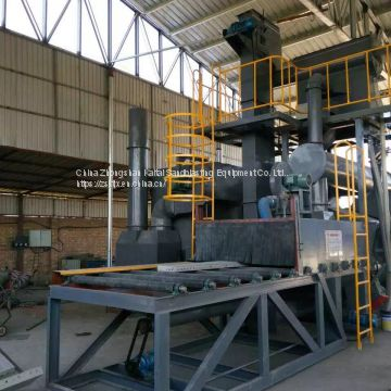 Conveying shot blasting machine