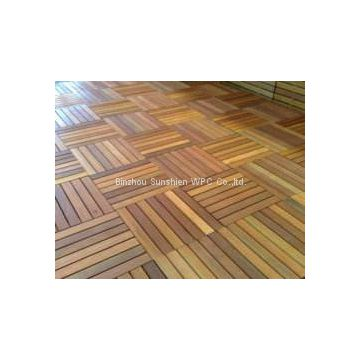 WPC interlocking DIY decking/ Deck Tile 300x300mm