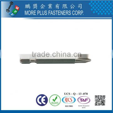 "Made In Taiwan PZ BITS 1/4"" HEX POWER BITS"