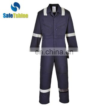 China cheap price modacrylic flame retardant special hazard workwear coverall