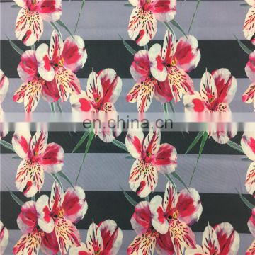 Shaoxing Supply Knitting Single Jersey Fabric Customized Design Digital Printed Rayon Fabric