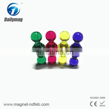 Top-grade small nedymium magnet office magnet push pin