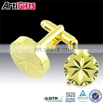 Promotional metal gold new design fashionable suit shirt cufflinks