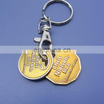 Transparent Enamel Canadian Loonie Supermarket Trolley Coin Tokens