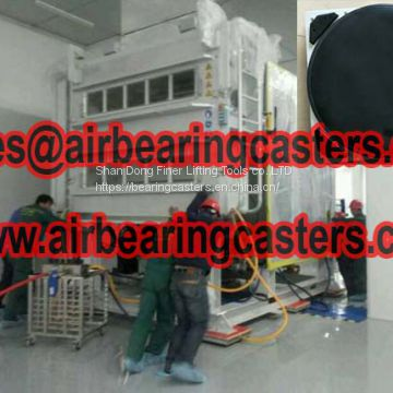 Air bearing casters need to works at flatness floors