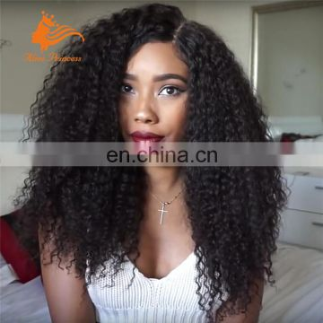 Wholesale virgin peruvian human hair short afro kinky curly full lace wig
